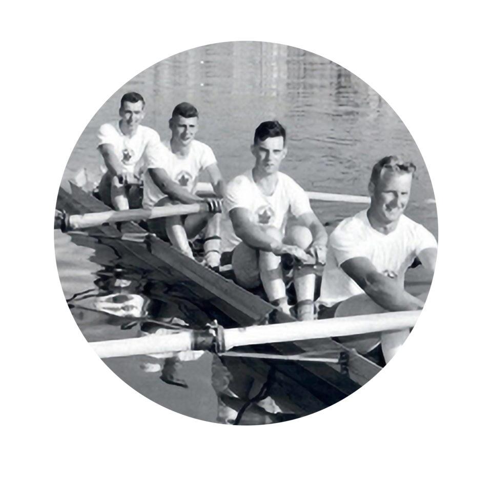 Quatre de pointe masculin sans barreur de 1956