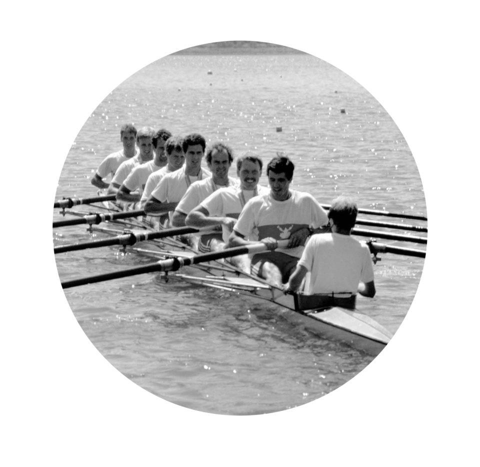 Huit de pointe masculin avec barreur de 1984