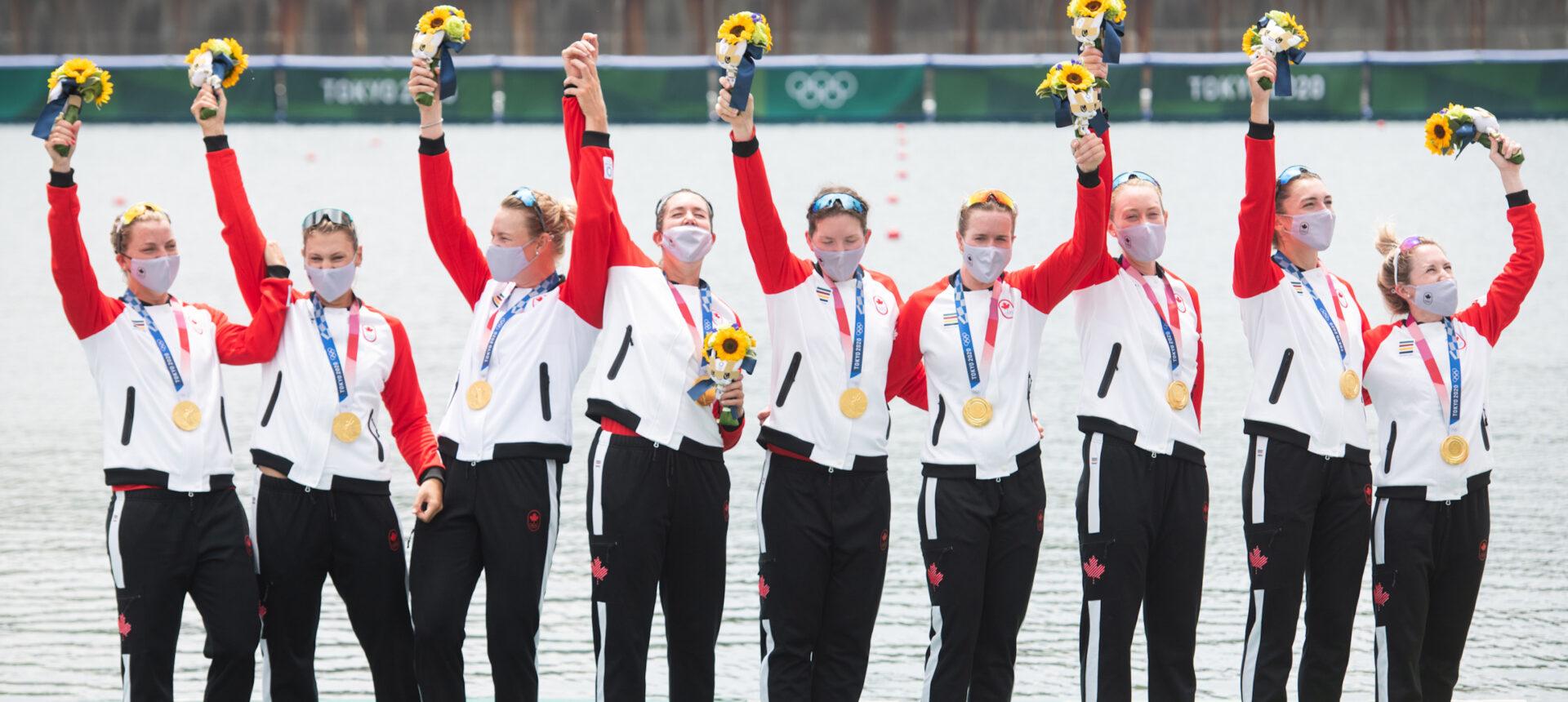 L'or olympique pour le Canada au huit féminin